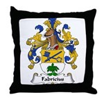 Fabricius Family Crest Throw Pillow