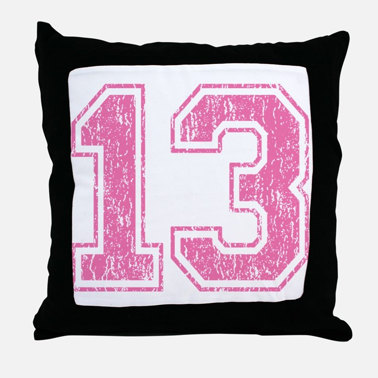 Retro 13 Number Throw Pillow