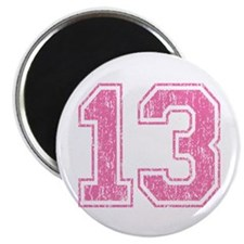 Retro 13 Number Magnet