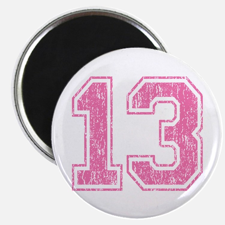 Retro 13 Number Magnet