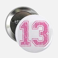"Retro 13 Number 2.25"" Button"