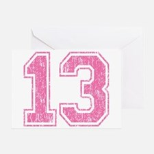Retro 13 Number Greeting Card