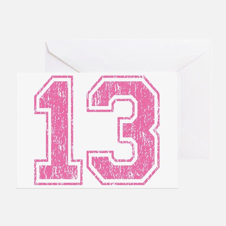 Retro 13 Number Greeting Card