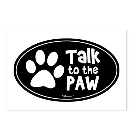 Talk To The Paw Postcards (Package of 8)