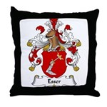 Esser Family Crest Throw Pillow