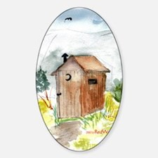 Outhouse Oval Decal