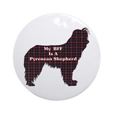 BFF Pyrenean Shepherd Ornament (Round)