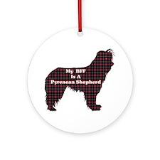 BFF Pyrenean Shepherd Ornament (Round)