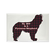 BFF Pyrenean Shepherd Rectangle Magnet (10 pack)