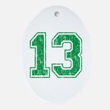 Retro 13 Number Ornament (Oval)