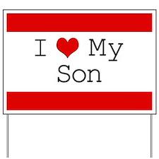I Heart My Son Yard Sign