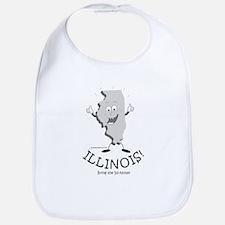 Cute Illinois Bib