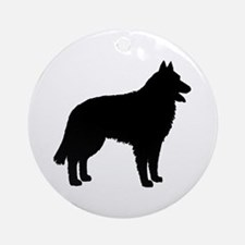 Belgian Sheepdog Ornament (Round)