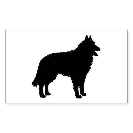 Belgian Sheepdog Rectangle Sticker