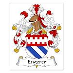 Engerer Family Crest Small Poster
