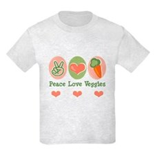 Peace Love Veggies Vegan T-Shirt