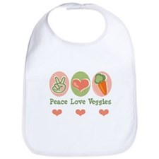 Peace Love Veggies Vegan Bib