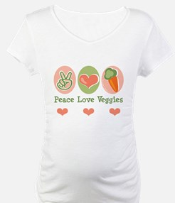 Peace Love Veggies Vegan Shirt
