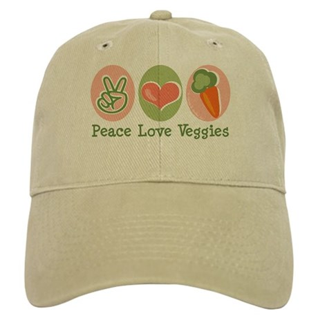 Peace Love Veggies Vegan Cap