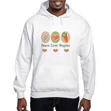 Peace Love Veggies Vegan Jumper Hoody