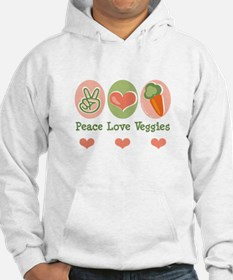 Peace Love Veggies Vegan Jumper Hoody