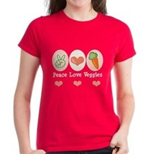 Peace Love Veggies Vegan Tee