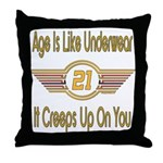Funny 21st Birthday Throw Pillow