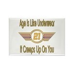 Funny 21st Birthday Rectangle Magnet (100 pack)