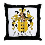Enderlin Family Crest Throw Pillow