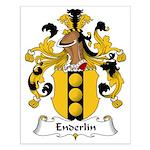 Enderlin Family Crest Small Poster