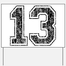 Retro 13 Number Yard Sign