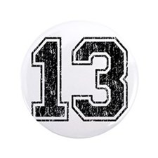 "Retro 13 Number 3.5"" Button"