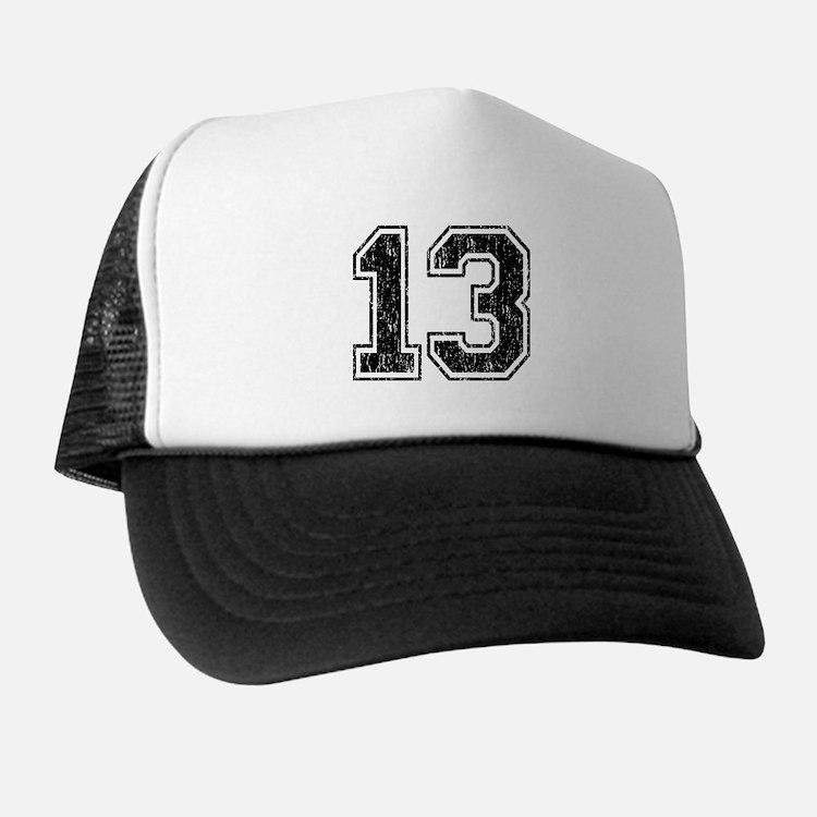 Retro 13 Number Trucker Hat