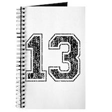 Retro 13 Number Journal