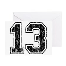 Retro 13 Number Greeting Cards (Pk of 10)