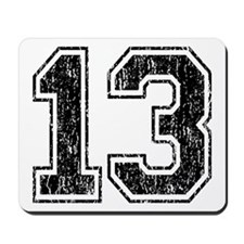 Retro 13 Number Mousepad