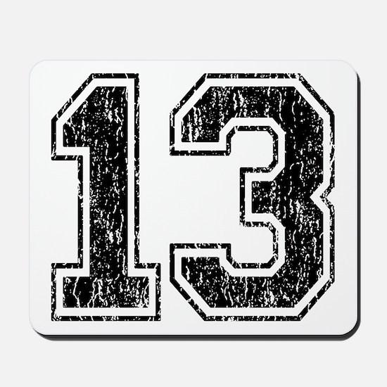 Retro 13 Number Mousepad