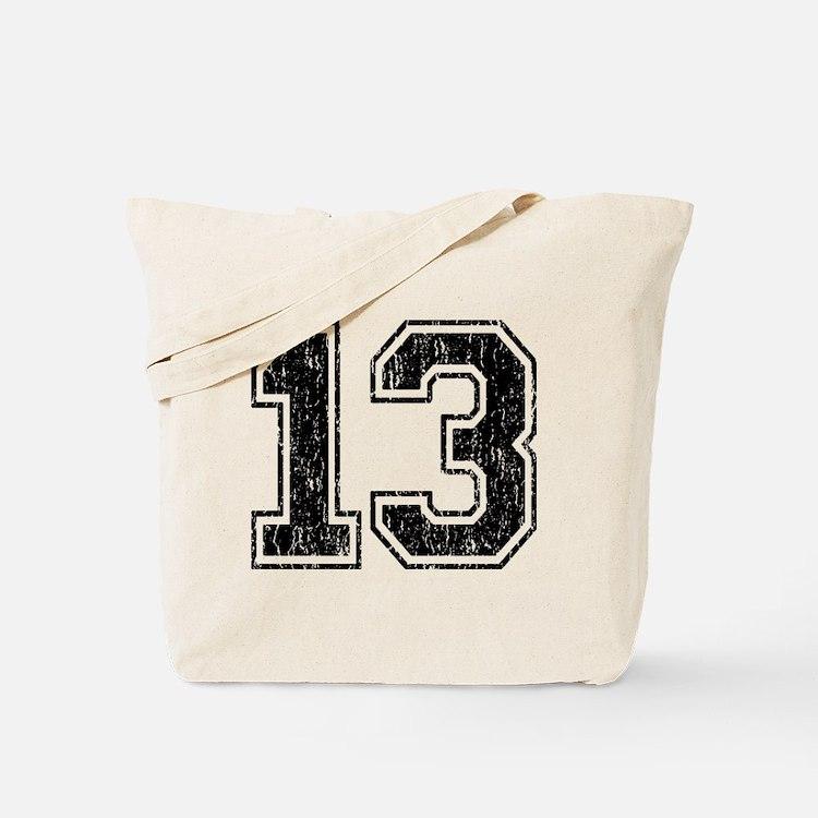 Retro 13 Number Tote Bag