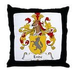 Ende Family Crest Throw Pillow