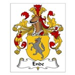 Ende Family Crest Small Poster