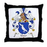 Elster Family Crest Throw Pillow