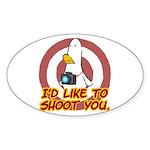 WTD: I'd like to shoot you Oval Sticker