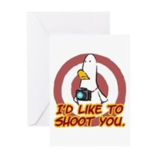 WTD: I'd like to shoot you Greeting Card