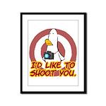 WTD: I'd like to shoot you Framed Panel Print