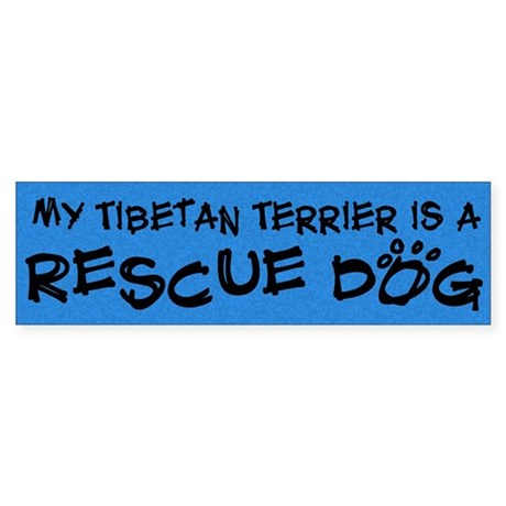 Rescue Dog Tibetan Terrier Bumper Sticker