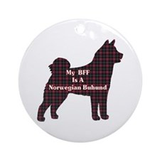 BFF Norwegian Buhund Ornament (Round)