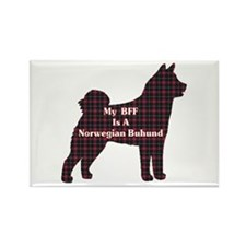 BFF Norwegian Buhund Rectangle Magnet (10 pack)