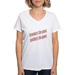 Grandma's the name Women's V-Neck T-Shirt