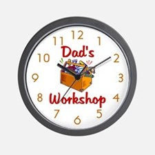 Dad's Workshop Wall Clock