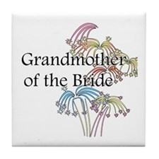 Fireworks Grandmother of the Bride Tile Coaster